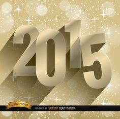 2015 neue Jahre mit abstrakten Hintergrund Sternenhimmel