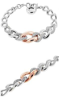 DIAMOND BRACELET 3.50CT NATURAL DIAMONDS SET IN 14K WHITE AND ROSE GOLD