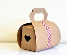 Heart kraft paper boxes £4.50