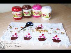 Cupcake de Crochê - By Desi Winters - Artes da Desi