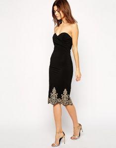 TFNC sukienka wieczorowa midi barokowy motyw