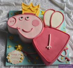Peppa Pig fairy Princess Birthday Cake