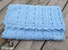 If you are looking for simply and very stunning baby blanket for special occasions this is for you. Any colors and any sizes. You need: worsted weight Yarn form Lion, scissors and tapestry needle.S…