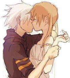 Maka and Soul kiss 4