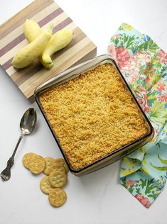 Southern Squash Casserole is a favorite at every gathering. With grated Cheddar cheese, crumbled Ritz crackers, and fresh summer squash, this squash casserole is a great way to use those summer vegetables! Southern Squash Casserole, Yellow Squash Casserole, New Recipes, Snack Recipes, Cooking Recipes, Dinner Recipes, Vegetable Side Dishes, Vegetable Recipes, Chicken Recipes