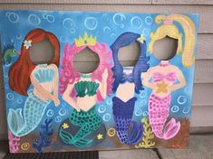 Mermaid Party Mermaid Birthday Mermaid Cutout Mermaid Photo