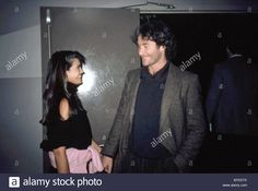 Stock Photo - Phoebe Cates and Kevin Kline at The World, New York, circa Kevin Kline, Phoebe Cates, Chris Cornell, Marines, Otp, 1980s, Vectors, David, New York