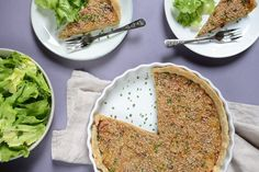 An easy recipe for a delicious and dairy-free roasted onion quiche that's super flavorful and satisfying, and easily made in advance.