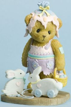 Cherished Teddies: Easter Bears - Myrtle and Bunny Toys - You're Some Bunny Special