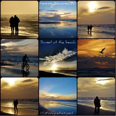 People in love at the beach with golden sunset. [28Dec'13]