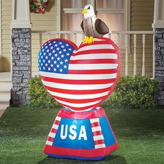 Patriotic Heart Outdoor Inflatable Decoration