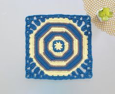 This 12 inch crochet octagon square is such a fun and stunning design that can be made into a bag, poncho, shawl or blanket. This 12 inch crochet square is part of the Stash Busting CAL with The Unraveled Mitten. Try it! Crochet Squares, Crochet Granny, Crochet Stitches, Crochet Patterns, Granny Squares, Eclectic Design, Paintbox Yarn, Stitch Markers, Yarn Crafts