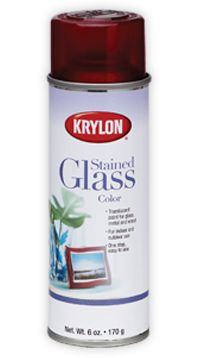 Stained Glass spray paint. This stuff is transparent and coats glass so it looks tinted and it's permanent! Comes in red, blue or yellow.