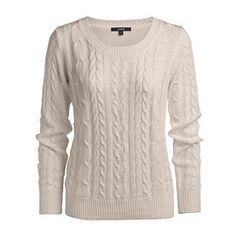 Cream v-neck merino sweater