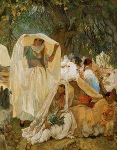 Que ce soit du Delacroix, du Renoir ou autre peintre orientaliste, tous ont représenté la beauté féminine de l'algérienne d'antan. Ils reflètent de part leurs toiles une culture et un raffinement que beaucoup oublient.