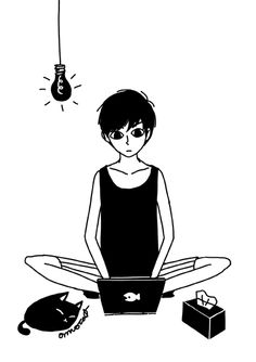 This is an interesting concept by the artist omocat. This character is called omori and the premise is that he lives on the blog omoriboy.com. I admire how expressive this picture is with the use of black and white.