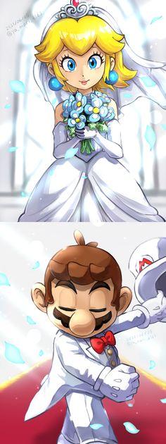 Super Mario Princess, Mario And Princess Peach, Super Mario And Luigi, Super Mario Games, Super Mario Art, Super Mario Brothers, Mario Bros., Princes Peach, Mario Funny