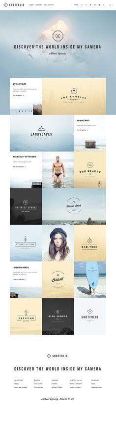 Shotfolio PSD Theme by Julian Shop on @creativemarket