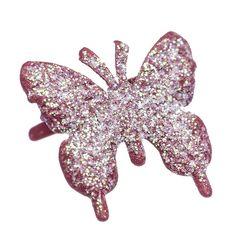 Attache Parisienne/Brads Papillon Rouge Métal