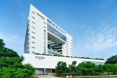 Built by Nandu Associates in Hyderābād, India with date 2012. Images by Bharath Ramamrutam. As you drive towards Hi tech city, looking at block after block of built FAR, there is a break from the concrete boxe...