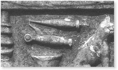 A spindle with whorls and a finger distaff  from a sarcophagus in Ephesus (an ancient Greek city located in modern day Turkey).