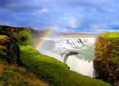 "Beautiful Iceland #Waterfall #Symbolism #Rainbow #Promise #Genesis9 to Noah ""I am going to make a solemn promise to you and to everyone who will live after you. This includes the birds and the animals that came out of the boat. I promise every living creature that the earth and those living on it will never again be destroyed. The #rainbowsky will be my sign to you and to every living creature on earth. (CEV-Revised via #Biblegateway)"