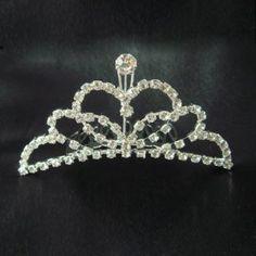 Alloy Bridal Wedding Tiara Crown with Rhinestone Butterly: USD $7.43