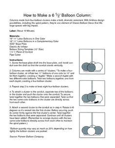 How To Make A Balloon Column Base