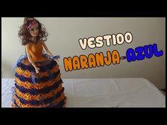 Vestido Azul-Amarillo a crochet para Muñeca - YouTube