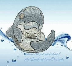 "Dolphin - Machine Embroidery Designs Set for a Babies and Children of a series ""Old Toy"""