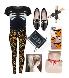 """""""Halloween"""" by eleanor991 ❤ liked on Polyvore featuring Kate Spade, Current Mood and Casetify"""