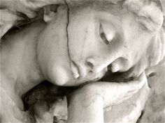 New Orleans Cemetery Angel Statue - Contemplation, 2010 - Fine Art Black and White Photography Cemetery Angels, Cemetery Statues, Cemetery Art, Angel Statues, New Orleans Cemeteries, Old Cemeteries, Graveyards, Angels Among Us, Angels And Demons