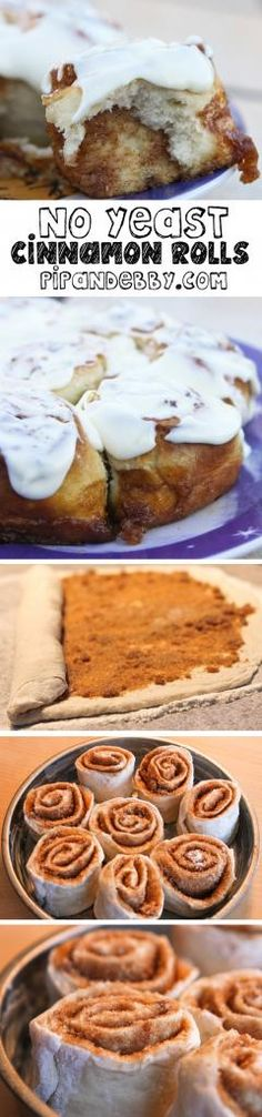 Cinnamon Rolls...QUICKLY and with no yeast or waiting required.