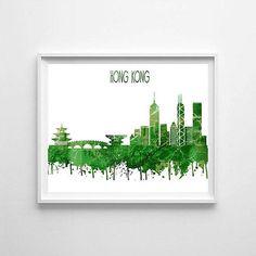 Hong Kong Hong Kong printable Hong Kong skyline Hong Kong