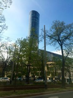 Sky tower in the centre of Wroclaw Poland. City centre great place to shop.