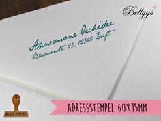 Stempel, Adressstempel von Bellyys -  Stempel - Design Unikate - Geschenkanhänger und vieles mehr...  auf DaWanda.com