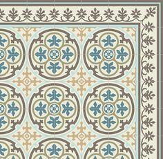 Design PVC Vinyl Matte Fliesen Muster dekorative Linoleum von videcor