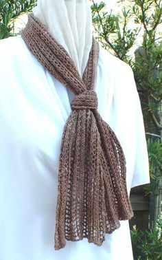 reversible lace ladders scarf