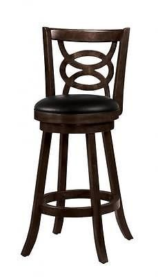 Bar Stools 153928: Solid Wood Cappuccino Swivel Bar Stool Chair By Coaster 101930 - Set Of 2 -> BUY IT NOW ONLY: $179.98 on eBay!