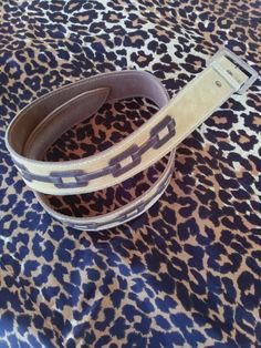 Vintage 1970s Mens Belt Suede Hippie Large Sz from by bycinbyhand