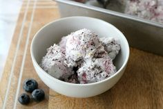 Blueberry Dream Ice Cream with Coconut Milk - sub for the honey