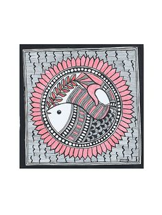Fish Madhubani Painting x Mural Painting, Fabric Painting, Saree Painting, Mask Painting, Painting Tips, Watercolor Painting, Madhubani Art, Madhubani Painting, Indian Art Paintings