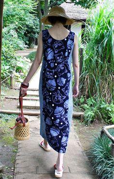 クリックで元の大きさに戻ります Japanese Fashion Designers, Sewing Magazines, Japanese Kimono, Mix Match, Refashion, Handicraft, I Dress, Street Style, Couture
