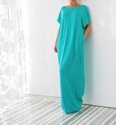 Turquoise Polka Dot Maxi Dress Polka Dot von cherryblossomsdress