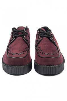 Creeper Shoes in Bordeaux - Puma Platform, Platform Sneakers, Bordeaux 3, Creeper Shoes, Creepers, Moccasins, Me Too Shoes, Shoe Boots, Cool Outfits