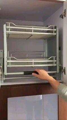 Kitchen Pantry Design, Modern Kitchen Cabinets, Modern Kitchen Design, Home Decor Kitchen, Interior Design Kitchen, Stainless Steel Kitchen Cabinets, Nordic Kitchen, How To Make Kitchen Cabinets, Hanging Kitchen Cabinets