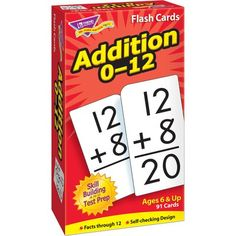 Trend Skill Drill Flash Cards 3 X 6 Addition for sale online Addition Flashcards, Math Addition, Math Flash Cards, Teacher Supplies, School Supplies, Skills To Learn, Learning Skills, Card Storage, Test Prep