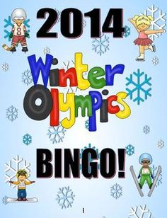 Winter Olympics Bingo Game Activity!