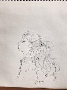 how to drawings Anime Drawings Sketches, Anime Sketch, Cute Drawings, Pencil Drawings, Pencil Art, Cartoon Kunst, Cartoon Art, Anime Art Girl, Manga Art