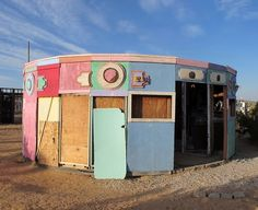 Noah Purifoy's Outdoor Desert Art Museum, Joshua Tree. This is near Palm Springs I think.